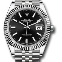 Rolex Datejust 41mm Black Stick dial 126334 bkij