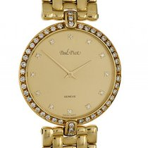 Paul Picot Classic Gelbgold Quarz Diamond 33mm Vintage Bj.2000...