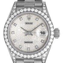 Ρολεξ (Rolex) Ladies Rolex President 18k White Gold Diamond...