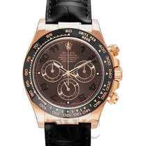 롤렉스 (Rolex) Daytona Chocolate 18k Rose Gold/Leather Ø40mm -...