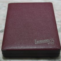 Eberhard & Co. rare vintage watch box burgundy leather for...