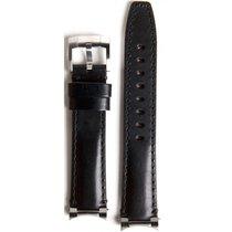 Everest Lederband schwarz 20mm  EH3BLK