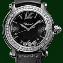 Chopard Happy Sport  Black Ceramic 38mm White Gold Bezel Diamonds