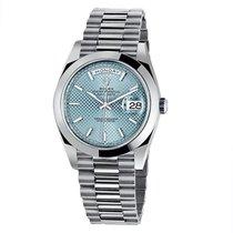 Rolex Day-date 40 Platinum Ice Blu Index - 228206