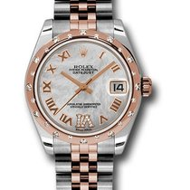 Rolex Unworn 178341 DateJust Mid-Size with Diamond Domed Bezel...