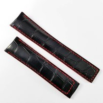 TAG Heuer 20mm alligator leather strap  black red FC6297...