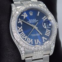 Rolex Datejust 116200 36mm Blue Diamond Dial Bezel Oyster...
