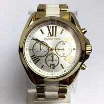Michael Kors Chronograph Quartz Gold Tone & White Plastic...