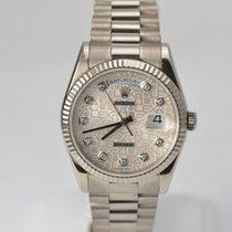 Rolex White Gold Day Date President Jubilee Serti Diamond Dial