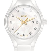Rado True Diamonds hell / weiß Datum Diamanten Keramik -NEU-