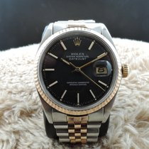 Rolex DATEJUST 1601 2-Tone SS/PINK GOLD with ORIGINAL Black Dial