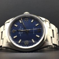 Rolex Air-King Stainless Steel 34mm Blue Arabic Dial Automatic...