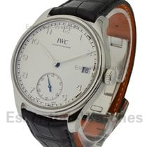 IWC IW510203 Portuguese Hand Wound 8 Days in Steel - on Black...