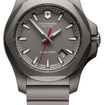 Victorinox Swiss Army I.N.O.X. TITANIUM 43mm Dial Grey, Rubber...