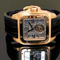 Cartier W2020019 Santos 100 Flying Tourbillon XL in Rose Gold