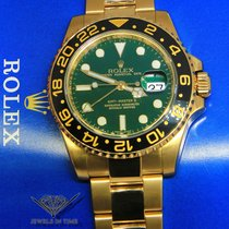 Rolex GMT-Master II 18k Yellow Gold Ceramic GREEN Dial Watch...