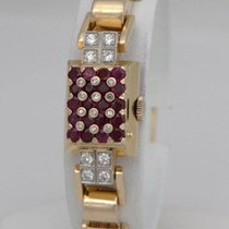 Ladies Vintage 14k Yellow Gold 2.00ct Red Ruby 1/2ct Diamond...