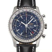 Breitling Navitimer World 46 Chronograph Blue Dial Black...