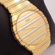 Piaget Polo Large 18k Yellow Gold Bracelet Watch Mint Conditio...