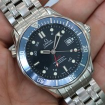 Omega Seamaster Diver Gmt Stainless Steel Blue 2535.80.00