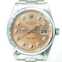 Rolex Oyster Perpetual Date 34mm Salmon Diamonds Dial Oyster Band