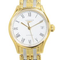 Longines Lyre Pvd Gold White Automatic L4.360.2.11.7