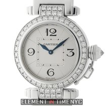 Cartier Pasha Collection Pasha 32mm 18k White Gold Diamond...