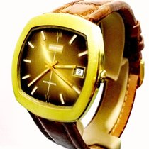 Marvin Vintage Automatic 21J Date MSR S76 35X37mm Gold Plated