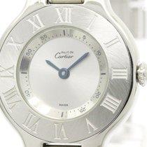 カルティエ (Cartier) Polished Cartier Must 21 Steel Quartz Ladies...