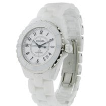 Chanel H0970 Full Size J12 White Ceramic - on White Ceramic...