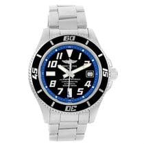 Breitling Superocean 42 Abyss Black Blue Dial Steel Mens Watch...