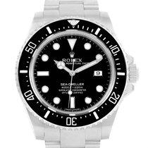Rolex Seadweller 4000 Black Dial Steel Mens Watch 116600 Box...