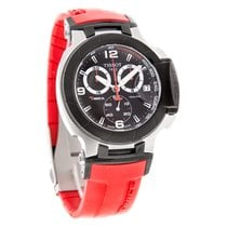 Tissot T-Race Chrono Mens Red Swiss Quartz Watch T048.417.27.0...