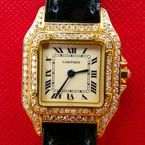 Cartier Panthere Yellow Gold 18K 750 Diamonds Luxury Ledies Watch
