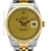 Rolex stainless steel and 18k yellow gold Datejust