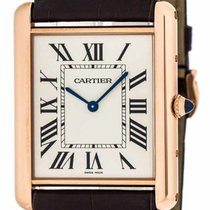 Cartier W1560017 Tank Louis Mechanical 18k PinkGold Men...