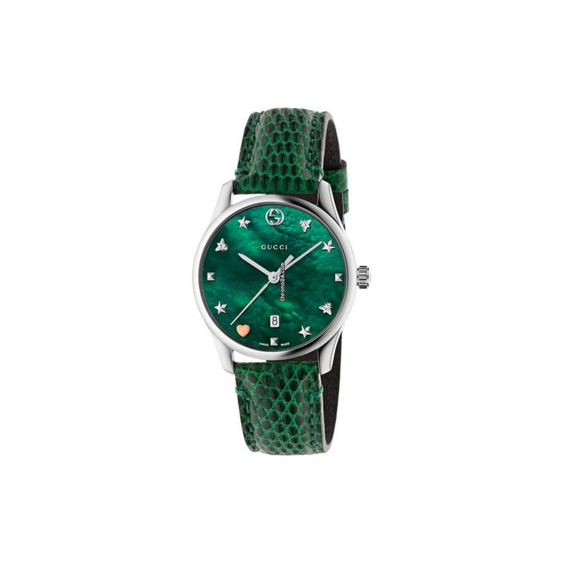 f4d6d201f27 Gucci G-Timeless Slim Quartz Green Mother Of Pearl Dial Green... for C   1