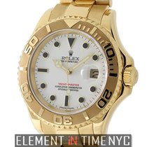Rolex Yacht-Master 18k Yellow Gold White Ivory Dial 40mm P...