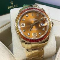 勞力士 (Rolex) Cally - 86348 Pearlmaster 39MM Orange/Yellow bgt...