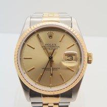 Rolex Datejust 18k Gold Steel 36mm Ref. 16233 (With Rolex Box)