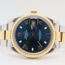 ロレックス (Rolex) Date Blue Dial 18k Gold Steel