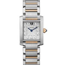 Cartier WE110004 Tank Francaise Quartz in Steel and Rose Gold...