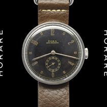 Doxa Disco-Volante Art-Deco 1930s Military Black Dial