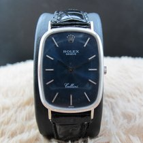 Rolex CELLINI 4113 18K White Gold with Original Glossy Blue Dial