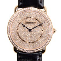 Cartier Ronde Louis Cartier 18 K Rose Gold With Diamonds Gold...