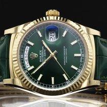 Rolex - Day-Date - 118138GSL - Green Dial - 2016 - UNWORN