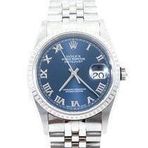 勞力士 (Rolex) Mens Datejust - Blue Roman Numeral Dial 16234 No...