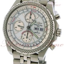 Breitling for Bentley GT, Silver Dial - Stainless Steel on...