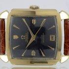 Omega Calendar Scarab Black Dial Or jaune 14 Carats