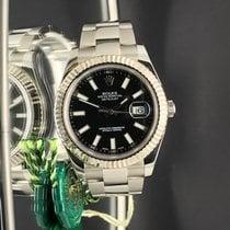 Rolex Date Just II 41mm Gold bezel black stick dial  Dial ...